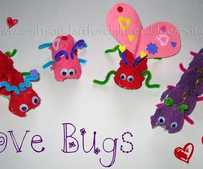 Egg Carton Love Bugs