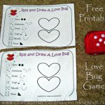 Valentine's Day Game Printable: Roll and Draw a Love Bug