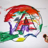 Football Helmet Craft for Kids