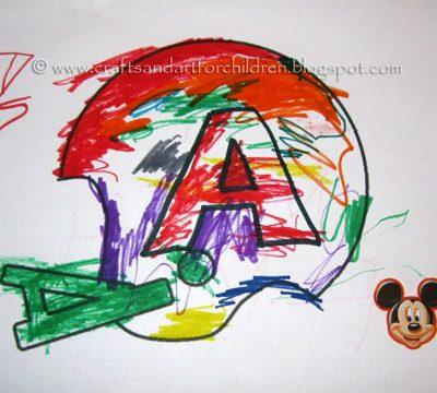 Football Helmet Craft for Kids