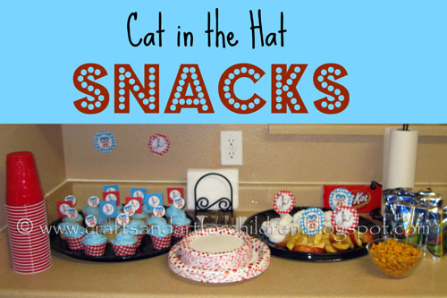Cat in the Hat party snack ideas