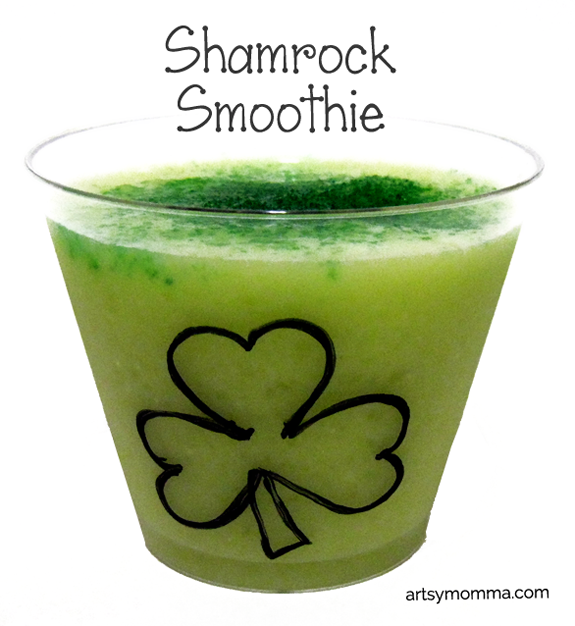 Shamrock Smoothie Recipe for Kids for St Patrick's Day