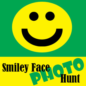 We went on a Smiley Face Photo Hunt