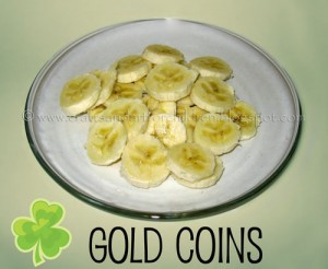 St Patrick's Day Fun Food Idea - gold coins