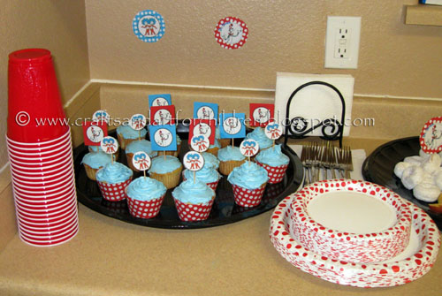 Cat in the Hat Dr Seuss party fun food ideas