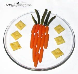 Easy Carrot Shaped Carrot Snack for Kids - Easter Idea