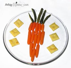 Easy Carrot Shaped Carrot Snack for Kids - Easter Idea