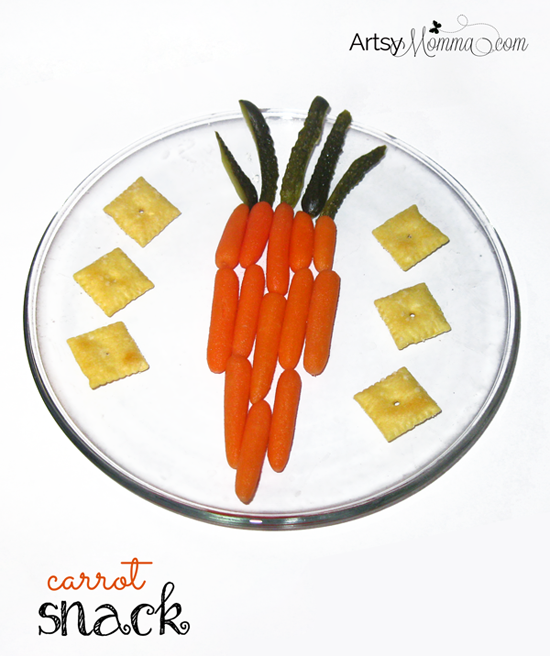 Healthy Easter Snack for Kids using Carrots