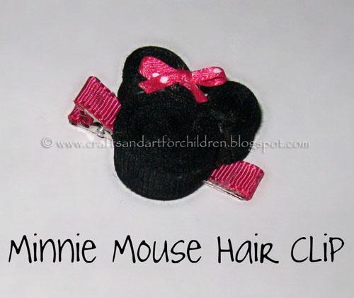 Handmade Minnie Mouse Hair Clip