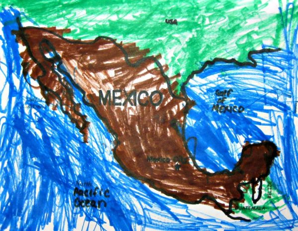 Map of Mexico Coloring Page for Cinco de Mayo Activity