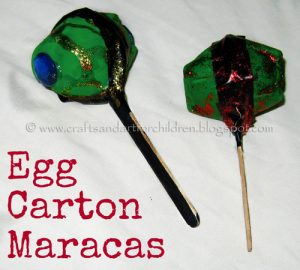DIY Egg Carton Maracas Craft for Cinco de Mayo or Music Unit