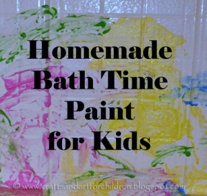 Homemade Bath Tub Paint for Kids