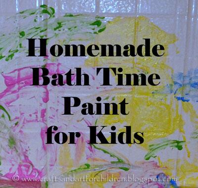 Painting in the Bath Tub { DIY Recipe}