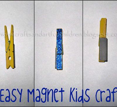 Easy Magnet Craft for Kids