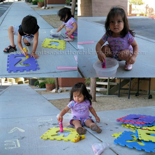 Outdoor Art Activity for Toddlers