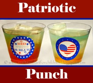 Patriotic Punch Layered Drink for Kids - 4th of July