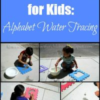 Alphabet Water Tracing: Summer Activity for Kids