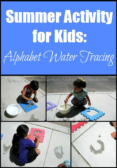 Summer Activity for Kids: Alphabet Water Tracing Pre-Writing Activity