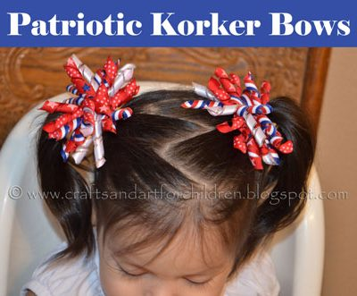 Our 4th of July Cutie Pies & Handmade Patriotic Korker Bows