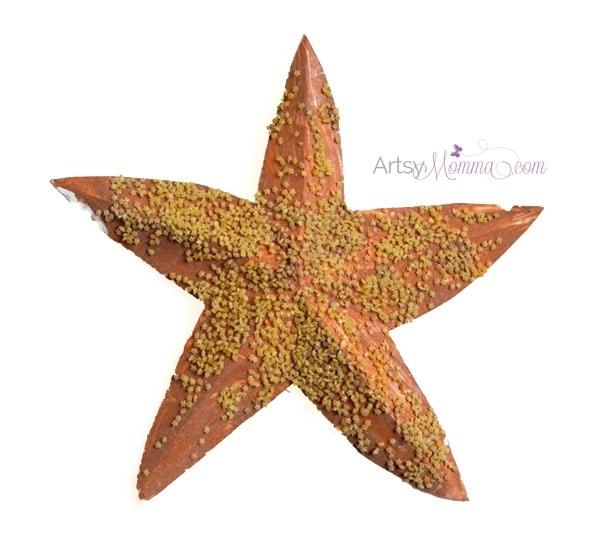 Starfish Craft for Kids using Pasta