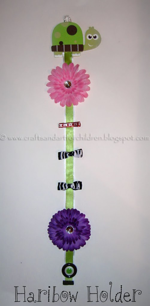 How to make a ribbon hair bow and clip holder