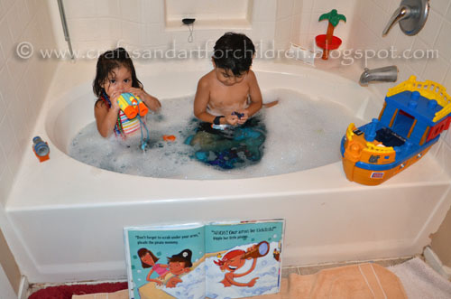 Colored Bath Activity for Talk Like a Pirate Day