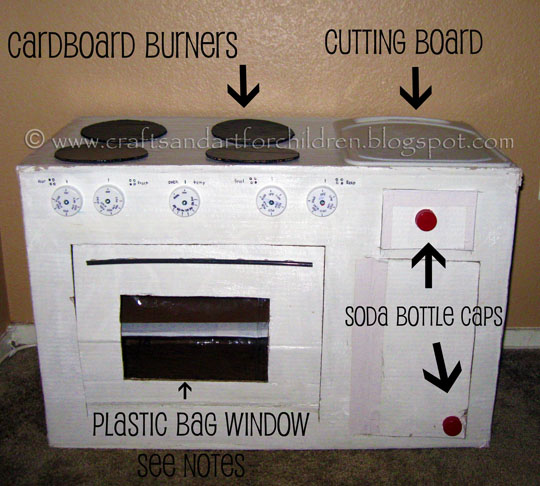 How To Make A Cardboard Kitchen For Kids Artsy Momma