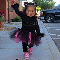 Homemade Black Cat Tutu Costume + Halloween Cat Books & Crafts