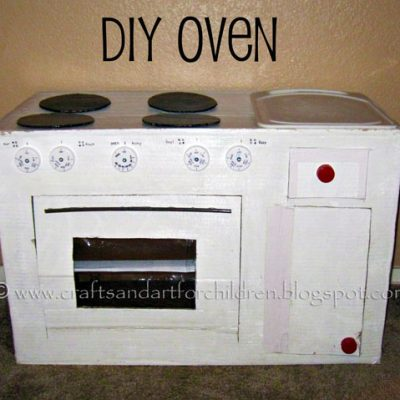 How to Make a Cardboard Kitchen for Kids