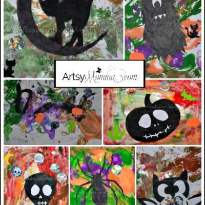 Halloween Silhouette Paintings {kids craft}