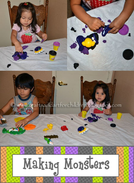 Create-a-Face Playdough Monster Activity