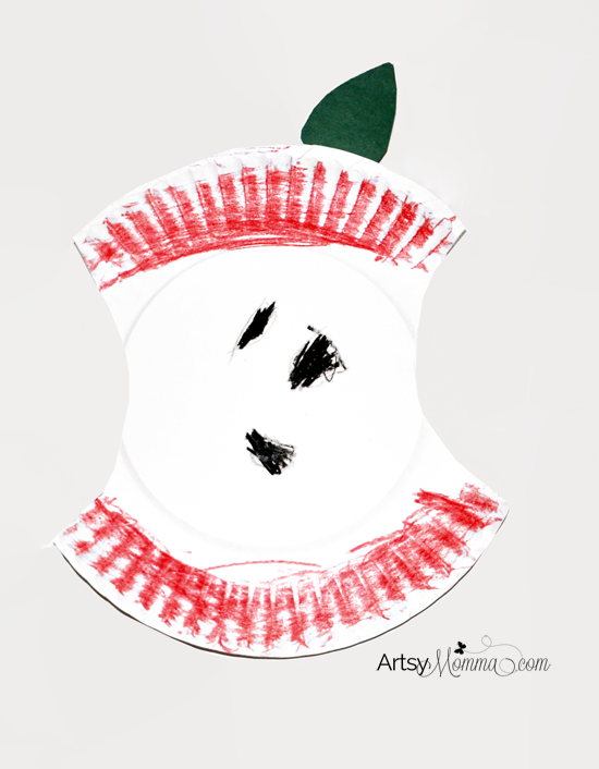 Preschool Craft: Paper Plate Apple