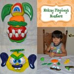 Making Playdough Monsters from pumpkin faces