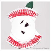 Paper Plate Apple Preschool Craft