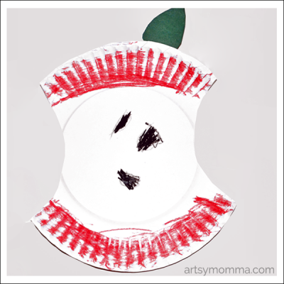 Paper Plate Apple Preschool Craft