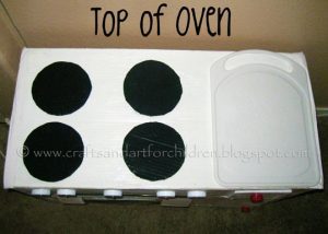 DIY oven/kitchen for kids
