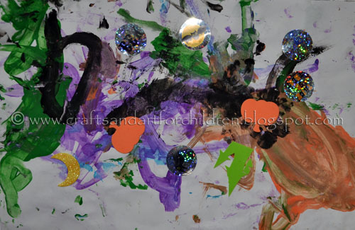 Toddler Art: Halloween Painting