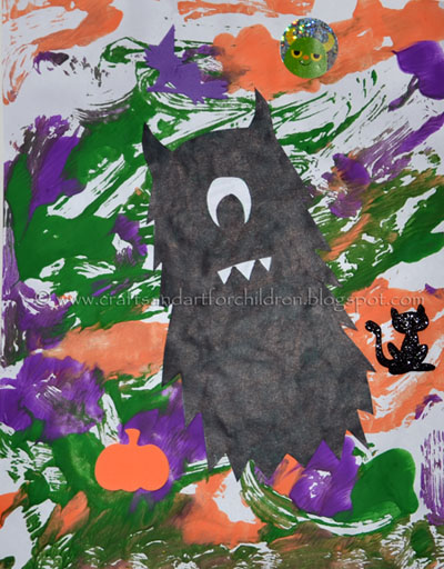 Halloween Painting: Monster Silhouette