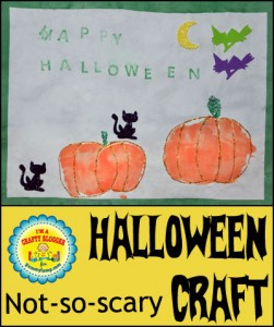 Handprint Pumpkin Halloween Art for kids