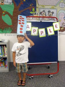 Ten Apples Up on Top Craft and Book - Johnny Appleseed Day