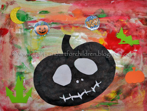 Kids Halloween Painting: Pumpkin  Silhouette