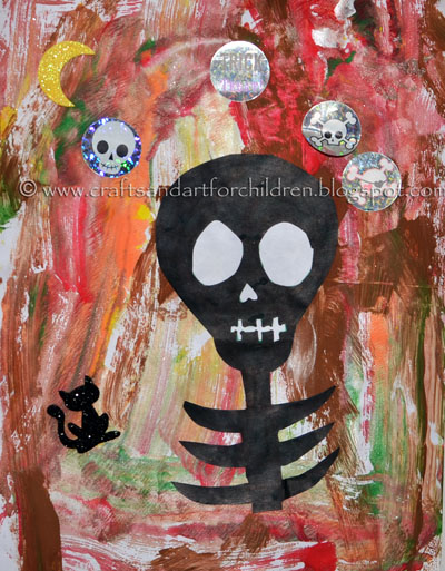 Halloween Painting: Skeleton Silhouette