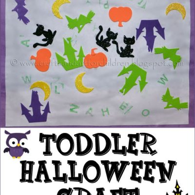 Halloween Craft for a 1 year old