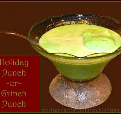 How to Make an Easy Holiday Punch or Grinch Punch