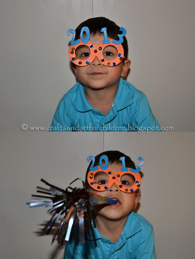 New Year's Glasses Craft for Kids