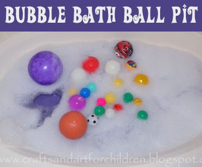 Ball Pit Bubble Bath {Kids Activity}
