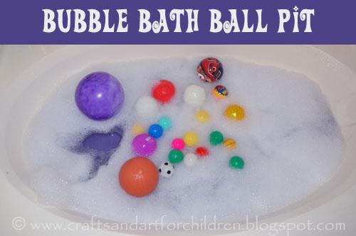Bubble Bath Ball Pit for kids, fun bathtub activity