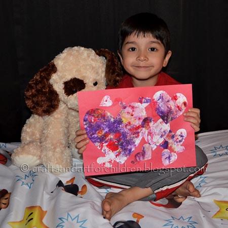 Preschool Valentines Craft, Heart Collage