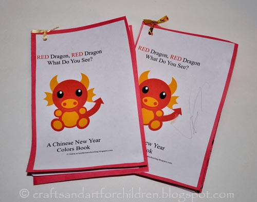 Red Dragon, Red, Dragon, What Do You See Book Printable