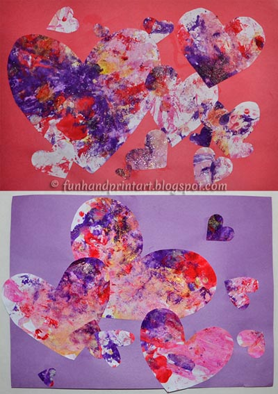 Valentine's Day Process Art Painting Idea